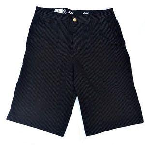 VOLCOM Stone pinstripe chino shorts size 32